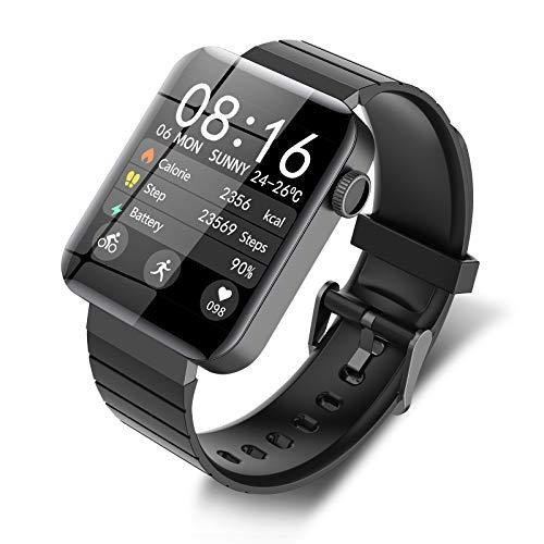 SmartWatch Pulsera Inteligente Reloj Inteligente Reloj Deportivo con Pantalla Táctil Completa 1.54 inch Pantalla Grande Fitness Tracker con Pantalla Meteorológica, Modos...