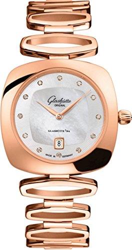 Glashutte 1-03-01-08-05-14 - Orologio da donna in oro rosa