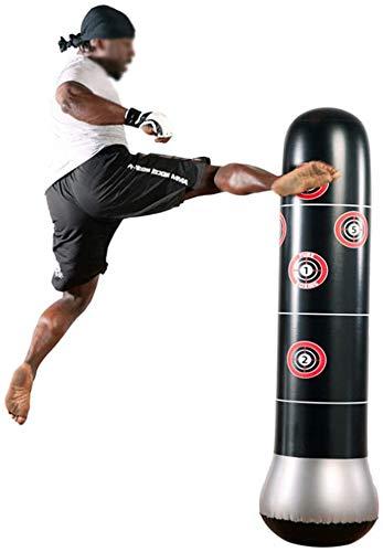 HWMYA Boxing Boxsack, Freistehend Inflatable Boxen Spalte mit verdickten Boden, Fitness Boxsack, für Boxen Kampfkunst Body Building