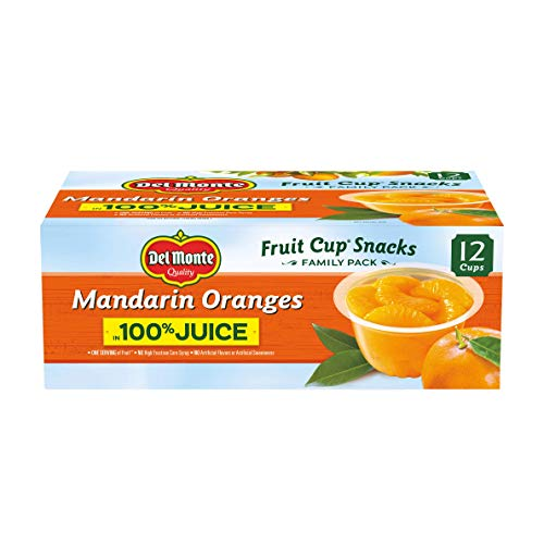 Del Monte Mandarin Orange Fruit Snack Cups in 100% Juice, 4-Ounce