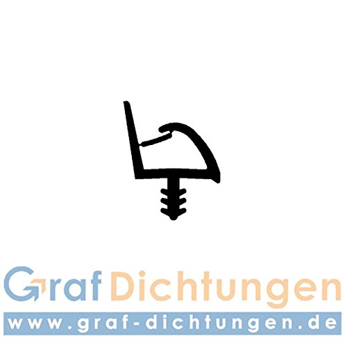 5m Holzzargendichtung für 12mm Falzbreite Türdichtung Sealing Profile Gummidichtung Türrahmendichtung Dachdichtung (weiss)