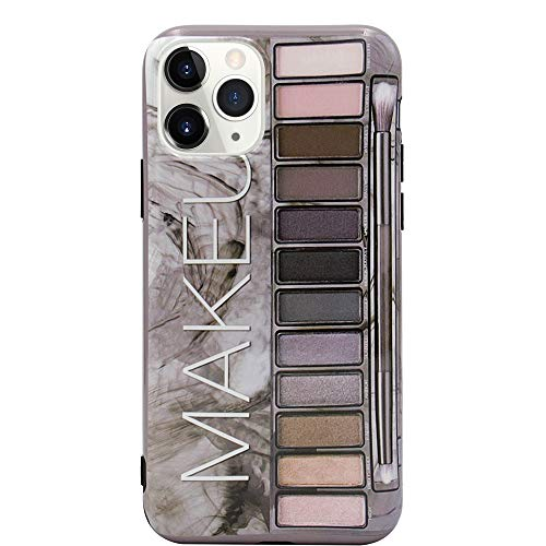 MC Fashion iPhone 11 Pro Hülle, Cute Glossy Lidschatten Palette Case, Slim Fit Full Body Schwarz Bumper Soft Protective TPU Case für Apple iPhone 11 Pro 5.8 Zoll 2019 (Grau)