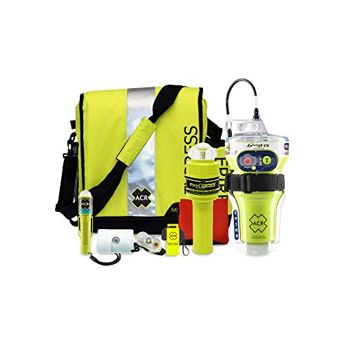 ACR ResQKit Survival Kit with GlobalFix V4 EPIRB with USCG Eflare, Ditchbag, Signal Mirror, Whistle and Strobe Lights 2356