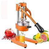 Commercial Citrus Juicer Manual Fruit Juicer Heavy Duty Professional Hand Press Orange Squeezer for Lemon Lime Pomegranate (Orange)