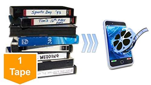 Video Tape Transfer Service, Digitization to MP4 (VHS, VHS-C, Hi8, Video 8, Digital8, 8mm, MiniDV, Beta, Audio) - New Customer Offer