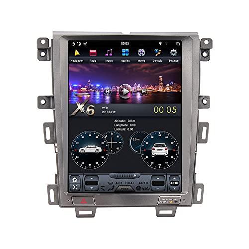 ZWNAV 12.1 Pulgadas Android 9.0 Unidad Principal de Radio de Audio estéreo para automóvil para Ford Edge 2008-2014 de visualización de Pantalla Vertical DSP Navegación GPS WiFi (4G 64G DSP Carplay)