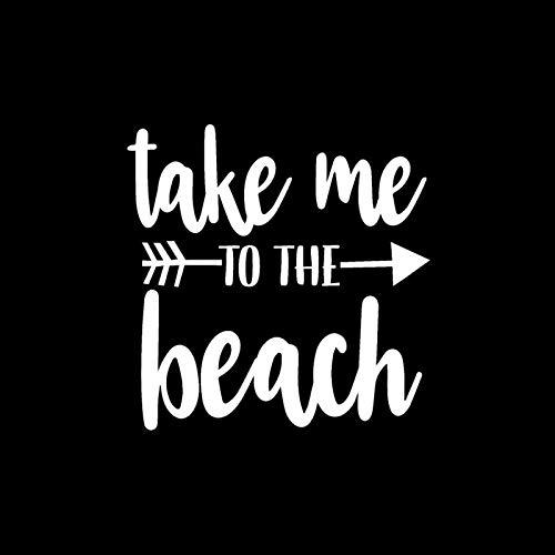 Calcomanías interesantes 13.2cm * 13.4cm Etiqueta engomada del coche para llevarme a la playa Flecha Etiquetas de vinilo Negro Silver Scrapites Pegatinas Pegatinas Interesantes Pegatinas de pared pega