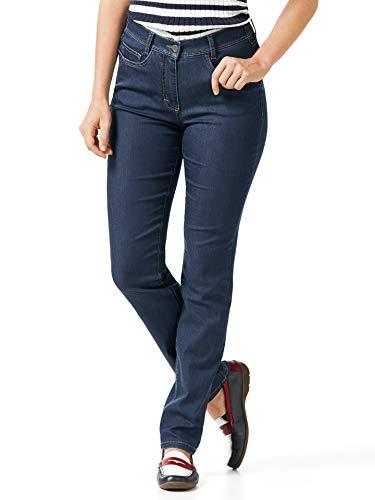 Walbusch Damen Yoga Jeans Ultraplus einfarbig Blue Stoned 44