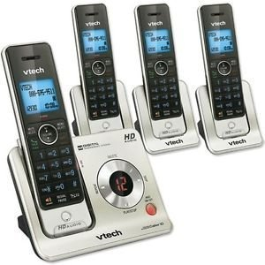VTech LS6426-4 DECT 6.0 Expandable 4 Handset Cordless Phone System with Digital Answering Device, Caller ID and Push-to-Talk Intercom