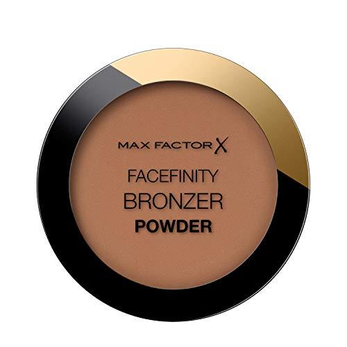 Max Factor Facefinity Bronzer Powder, Terra Abbronzante dal Finish Satinato a Lunga Durata, 002 Warm Tan