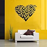 Herzförmige Tapete Abnehmbarer Aufkleber, Kreative