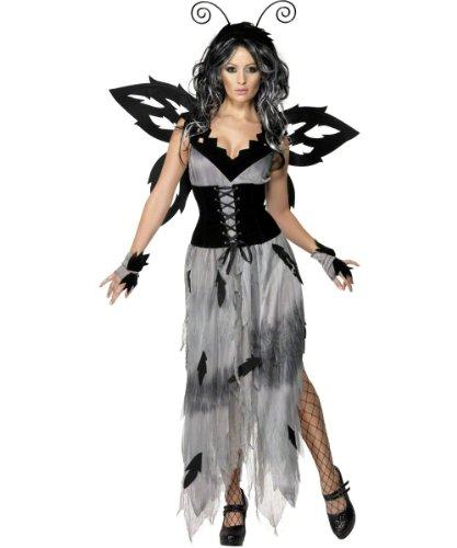 Smiffy's - Sexy Böse Schwarze Fee Halloween Kleid für Damen Gr. 36/38 (S), 40/42
