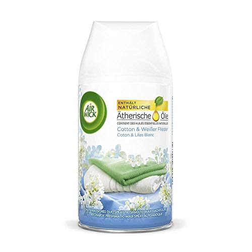 Air Wick Freshmatic Max Nachfüller – Duftspray für den Air Wick Freshmatic Max – Duft: Cotton & Weißer Flieder – 2 x 250 ml Nachfüller