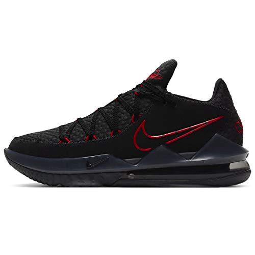 Nike Lebron Xvii Low Herren Basketballschuhe Cd5007-001, Schwarz (Schwarz/Rot), 41 EU
