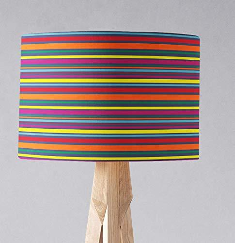 Regenbogenstreifen Lampenschirm für Tischlampe oder Deckenlampe
