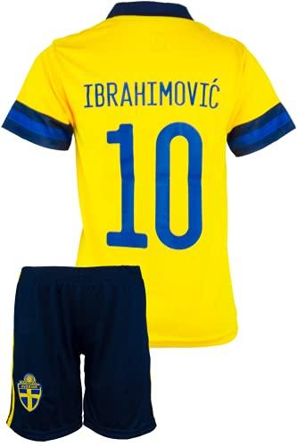 StoneMale 2021 Schweden Heim Zlatan Ibrahimović #10 Kinder Trikot Europäische Nationalmannschaften (164, 10-11 Jahre)