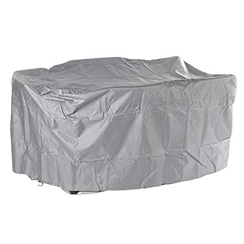 WWWANG - Funda protectora para muebles de ratán para patio, mesas y sillas a prueba de polvo con ojal de metal, 25 tamaños, personalizable 140x90cm gris