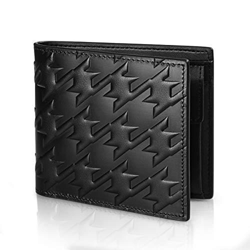 財布 メンズ 二つ折り 薄型 軽量 本革 さいふ カード収納 ボックス型小銭入れ シンプル 二つ折財布 一流の革職人が作る Mens Wallet(Doodle Yard)