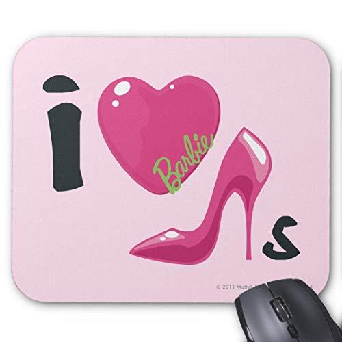 Alfombrilla de ratón Antideslizante de Goma para Juegos, Alfombrilla de ratón Rectangular para Ordenadores, portátiles, barbies, Zapatos de corazón, Alfombrilla de ratón