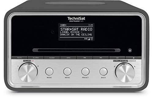TechniSat DIGITRADIO 585 – DAB+ Hybridradio (UKW, Internetradio, Bluetooth, Spotify, Wireless Charging, Alexa Sprachsteuerung, OLED-Display, CD-Player, USB, MP3, App-Steuerung, Kopfhörer) anthrazit