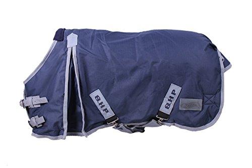 QHP Falabella Outdoordecke 200g Minishetty wasserdicht Kreuzgurte Schweiflatz (70 cm, Blau)