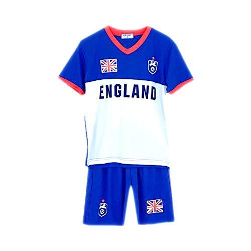 Unbekannt Default Fußball Sommer Shorts Jungen Neu Mädchen Top Weste Set Satz Größe Alter 2-12 Jahre Neu - England Blau, 2-3 Years