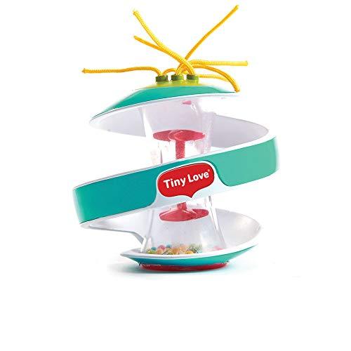Tiny Love gioco per bambini interattivo a forma di palla con cascata di perline, facile da afferrare, colore azzurro