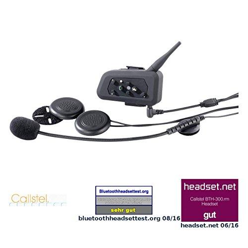 Callstel Helm Sprechanlage: Motorrad-BT-Intercom-Headset, Fernbedienung, 1 km Reichweite, 2er-Set (Motorrad Kommunikation)