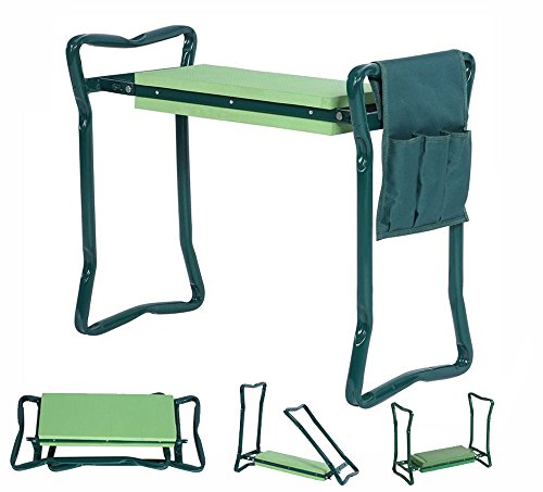 5 STAR SUPER DEALS 5Star Foldable Garden Kneeler with Handles and Seat - Bonus Tool Pouch - Portable...