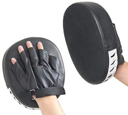 XGEEK 2x focus pads hook jab mitts boxing gloves sparring punch bag training pair