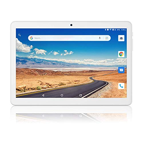 Tablet 10 inch, Android 8.1 Go Unlocked Tablets PC, 3G Phablet with Dual Card Slot, 1G+16GB, Dual Camera, GMS Certified, 1280x800 IPS, WiFi, Bluetooth, GPS - Silver