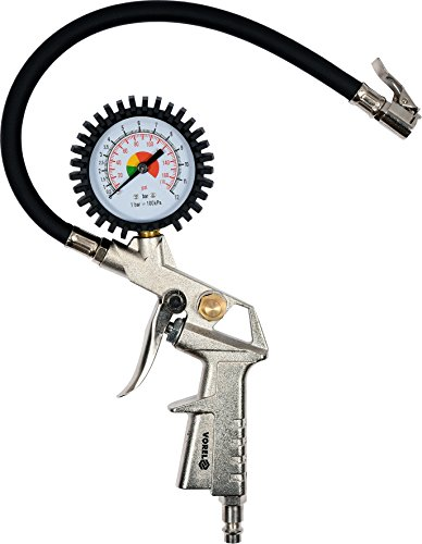 Reifenfüller Druckluftpistole Luftpistole Luftdruckprüfer Aufpumpen von Reifen Pistole mit Manometer