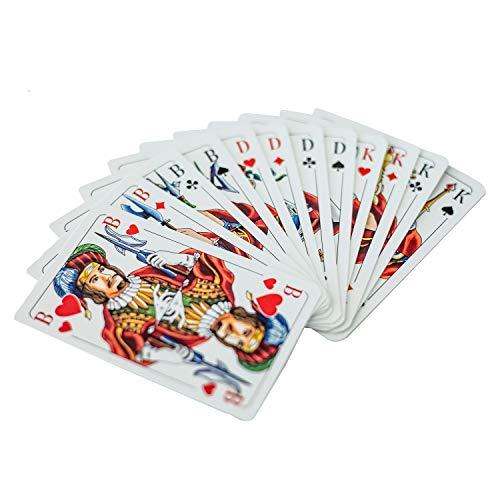 VfB Stuttgart Skat-Spiel, Skat Spielkarten, Kartenspiel Rückseite Logo - Plus Lesezeichen Wir lieben Fußball