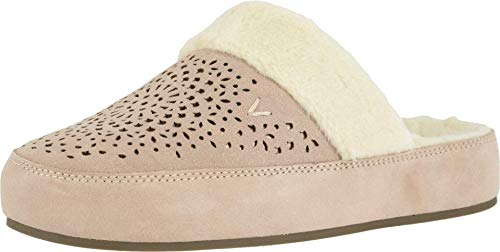 Vionic Women's Sublime Leona Mule Slipper - Ladies Comfortable House Slippers with Concealed Orthotic Arch Support Nude 12 Medium US