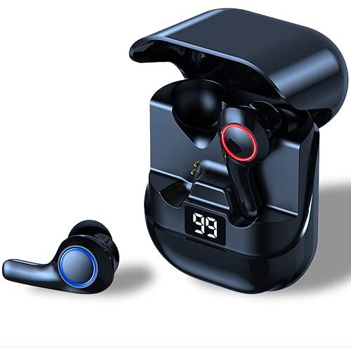 FIYAPOO Cuffie Bluetooth, Wireless Sport Auricolari Bluetooth con microfono, profilo audio premium con bassi intensi, presa confortevole, 50 ore di riproduzione