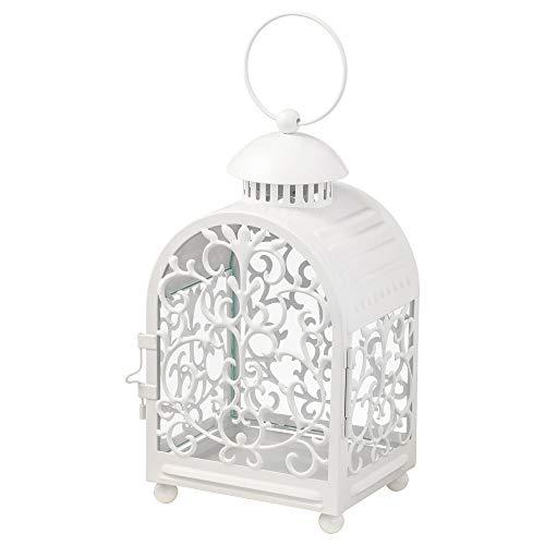 IKEA.. 103.414.71 Gottgöra Laterne für Kerze im Metallbecher, innen und außen, weiß
