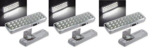 3 er Set LED Akku Notleuchte Notbeleuchtung Sicherheitsleuchte mit 30 LED's 21505