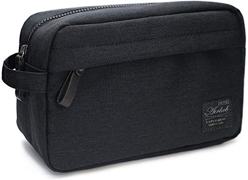 Toiletry Bag for Men and Women Travel Dopp Kit Bathroom Shaving Cosmetic Water-resistant Organizer for Toiletries, Black