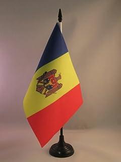 AZ FLAG Bandera de Mesa de MOLDAVIA 21x14cm - BANDERINA de DESPACHO MOLDAVA 14 x 21 cm