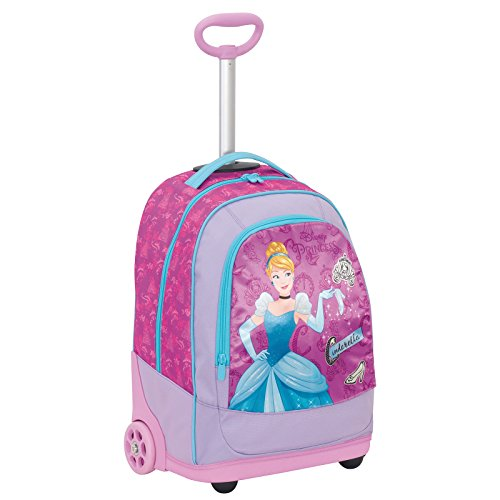 Big Trolley Disney , PRINESS DREAMY DRESS , Rosa , 30 Lt , 2in1 Zaino con spallacci a scomparsa , Scuola & Viaggio