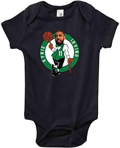 BJW Shirts Black Kyrie Boston Logo Baby 1 Piece 24 Months
