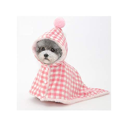 Dryup Cape Hundbademante mit Hut, Warme multifunktionale Hundedecke, Hundebademantel...