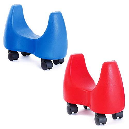 Sport-Thieme Bogenroller Rutscher | Indoor Rutscherauto für Kinder | Rot o. Blau | Bis 100 kg belastbar | LxBxH: 29x17x31 cm | Weicher PU-Schaum, Vier Rollen | Markenqualität, Blau