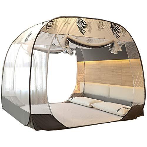 DUOER home Intérieur Couvre-lit de Tente à Double Porte Pleine Fond Pliable pour Enfants et Adultes (Gris Vert) Grand moustiquaires (Color : Green, Taille : 6 Foot Bed)