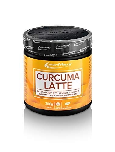 Ironmaxx Curcuma Latte - 300g Pulver - 75 Portionen - Goldene Milch aus Kurkuma - und Kokos-Pulver mit wertvollen Mineralien (Calsium, Zink, Magnesium) - Designed in Germany