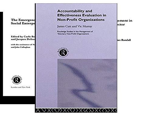 Routledge Studies in the Management of Voluntary and Non-Profit Organizations (25 Book Series)