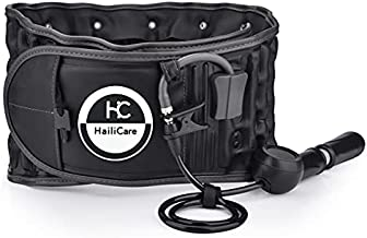 HailiCare Physio Decompression Back Belt, Back Brace Back Support for Lifting Back Pain Lower Lumbar Support, one Size for 29inches to 49 inches Waists (Black)