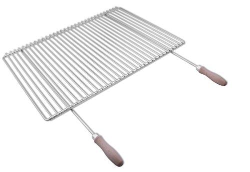 Parrilla en acero inoxidable europea de anchura ajustable 65–90x45cm