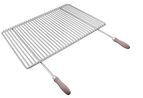 Parrilla en acero inoxidable europea de anchura ajustable 65–90x45cm