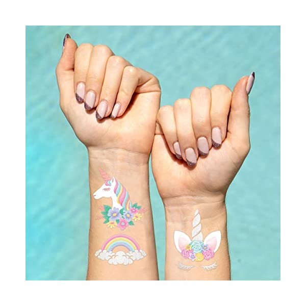 xo, Fetti Unicorn Party Favors - Temporary Tattoos for Kids - 26 styles | Birthday Party Supplies, Unicorn Favors… 3